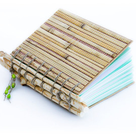 SunnyBooks - Bamboo Sketchbook with beaver chewed tree branches