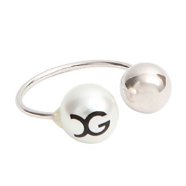 X-girl - 【X-girlxAquvii】 XG PEARL 2WAY RING(SILVER)