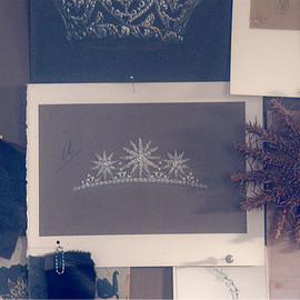 Tiffany & Co. - A sketch for a diamond tiara from the Tiffany Archives inspires new designs of superlative beauty.