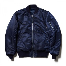HEAD PORTER PLUS - MA-1 JACKET NAVY
