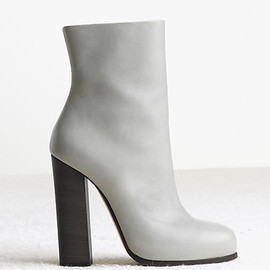 CELINE - ankle boot rider in calfskin light grey