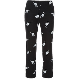MIUMIU - Cat print silk trouser