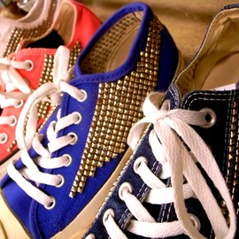 benjamintyo - converse  all star studded