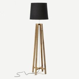 THE CONRAN SHOP - CROSS FLOOR LIGHT NATURAL WOOD BLACK
