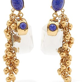 Etro - Gold-plated embellished earrings