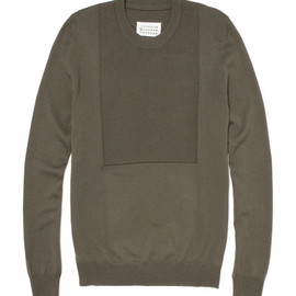 Maison Martin Margiela - Faux Bib Fronted Wool Sweater