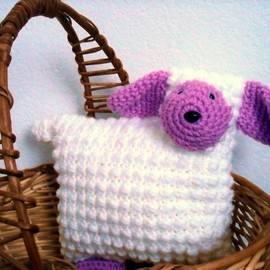 Luulla - Lamb Animal Pillow Nursery Decor Crocheted