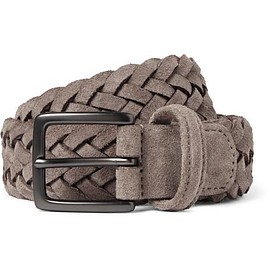 Anderson's - 3.5 Taupe Woven Suede Belt