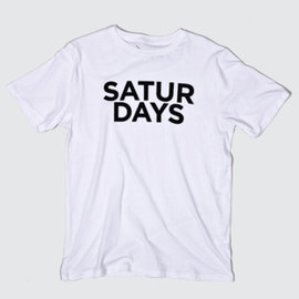 SATURDAYS SURF - Half Type T-Shirt / WHITE