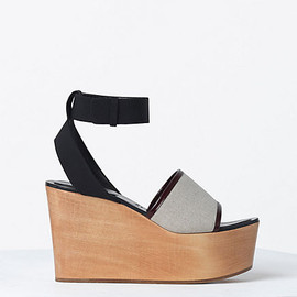 CELINE - 100MM SANDAL CLOG IN CREPE