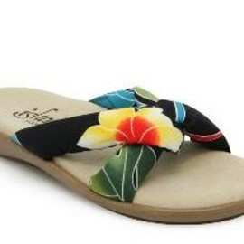 Island Slipper - Tropical Print Slide