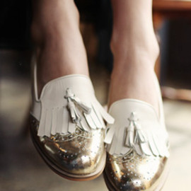 enamel heel shoes