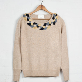 colenimo - Image of Plaited Collar Jumper - Beige<br>- was £199 -