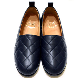 SUNSEA - Quilt slip on(NAVY)
