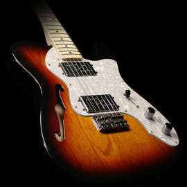 Fender Japan - Fender Classic Series '72 Telecaster Thinline Electric Guitar 3-Tone Sunburst