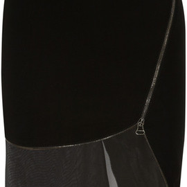 Altuzarra - Altuzarra Jodie Stretchcrepe and Chiffon Skirt in Black - Lyst