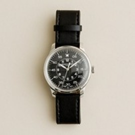 J.CREW - Mougin & Piquard™ for J.Crew Grande Seconde watch in black