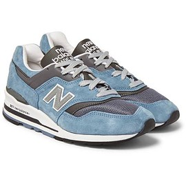 New Balance - 997 Leather-Trimmed Suede and Mesh Sneakers