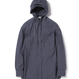 nonnative - HIKER HOODED SHIRT COTTON MINI RIPSTOP OVERDYED 15AW