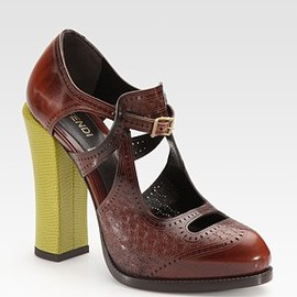 FENDI - Chameleon Leather Pumps