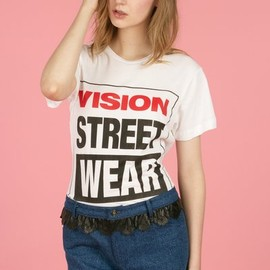 chloe sevigny for opening ceremony - vision vsw screened short-sleeve tee