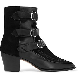Isabel Marant - Dickey leather and suede boots