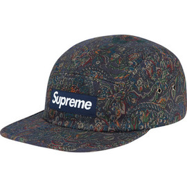 Supreme - Paisley Camp Cap - Navy