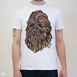 THE BEARHUG CO - THE BEARHUG CO - CHEWIE - STAR WARS CHEWBACCA - WHITE T-SHIRT -