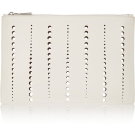 JIL SANDER - Perforated leather clutch