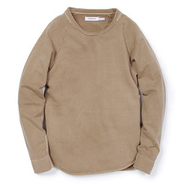 nonnative - DWELLER CREW LS - COTTON SWEAT OVERDYED