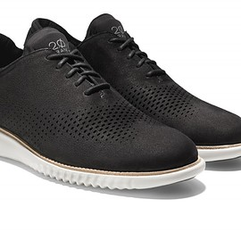 Cole Haan - 2. ZERØGRAND Laser Wingtip Oxford - Black/White
