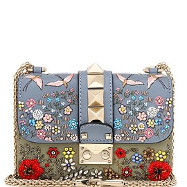 VALENTINO - Lock Mini embellished leather shoulder bag