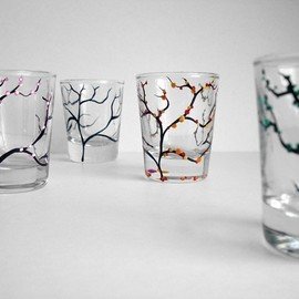 MaryElizabethArts - Four Seasons Shot Glasses