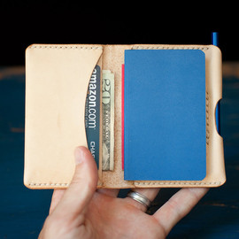 OneStarLeatherGoods - Hand Stitched natural leather wallet