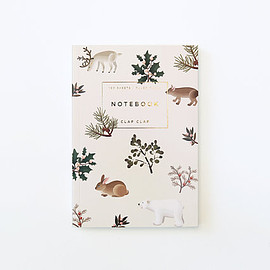 Clap Clap - Wild Animals Notebook - Cream