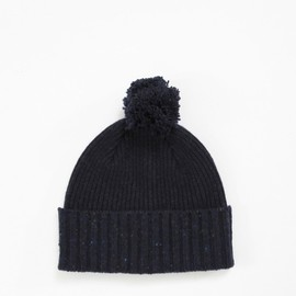 Drake's - Lambswool Donegal Bobble Hat