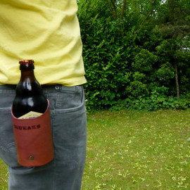 quickdrawleather - Leather beer drink holster