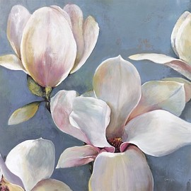 InGallery.com - Magnolia I by Georgie Fine Art Canvas 35 x 35 in Gallery Wrap Wall Decor