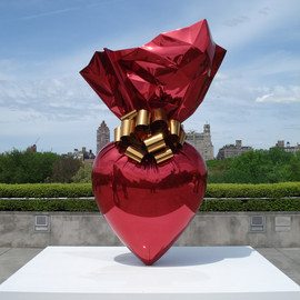jeff Koons - artworks, high chromium stainless steel with transparent color coating