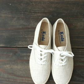 keds - KEDS #7041 CHAMPION OXFORD Lady's Linen Canvas Low-Cut Sneaker
