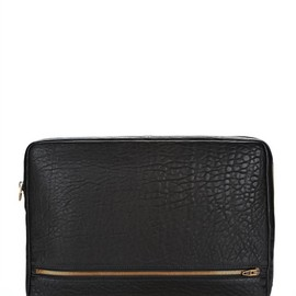 ALEXANDER WANG - Fumo Laptop Case In Black With Antique Brass Thumb