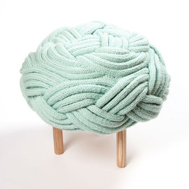 Olann - handknitted wool furniture collection