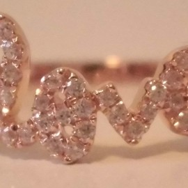 sugar bean jewelry - Rose Gold もかわいい♪ LOVE RING ☆ Sugar Bean Jewelry