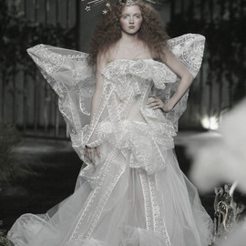 Christian Dior - Lily Cole at Christian Dior Haute Couture Autumn/Winter 2005
