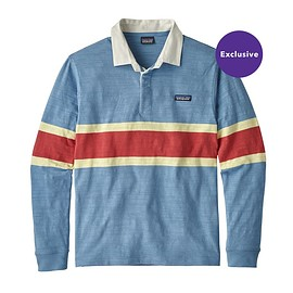 patagonia - M's Long-Sleeved Lightweight Rugby Shirt, Rugby Big: Railroad Blue (RUGR)