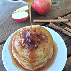 The Kitchen McCabe - Pumpkin Pancakes with Caramelized Apples and Apple Spice Syrup
