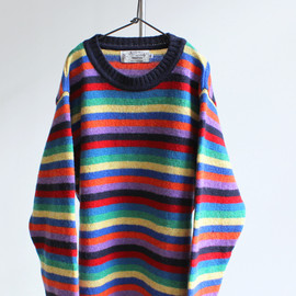 NOR' EASTERLY - MULTI STRIPE CREW SWEATER