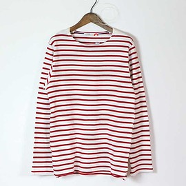ACTS - BOAT NECK L/S (WHITE/RED)