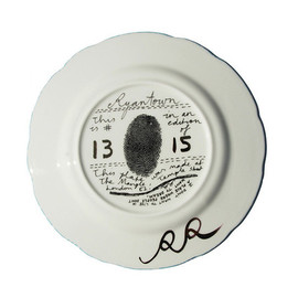 Rob Ryan - 'Kind People' Policeman Limited Edition Ceramic Plate