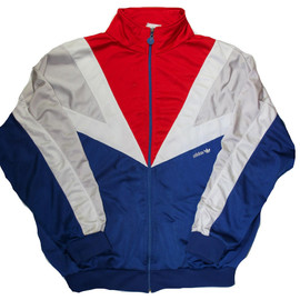 VINTAGE - Vintage 80s Adidas Red/White/Blue Track Jacket Mens Size Large